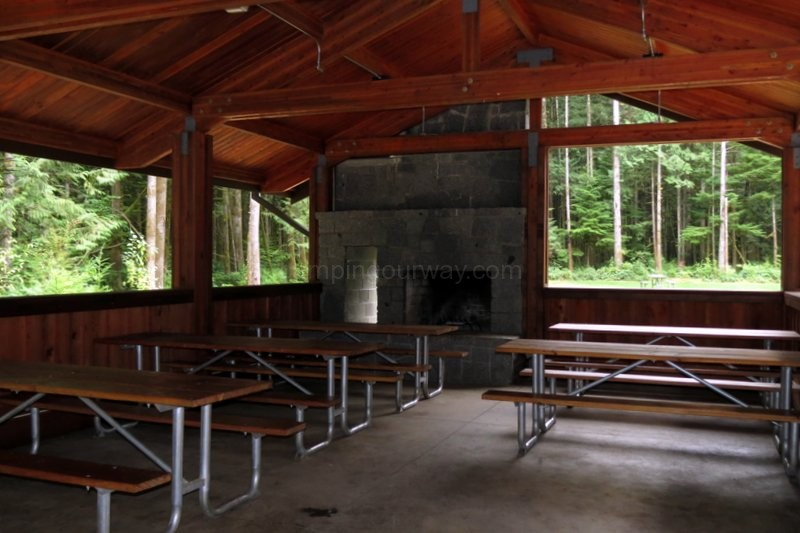 Inside Picnic Shelter Camping Our Way