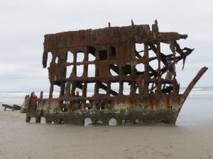 What remains of the Peter Iredale after 108 years