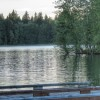 View of dock towards picnic area