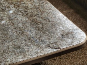 close up of cracked table